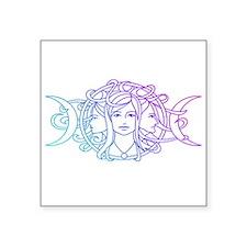 "Triple Goddess Square Sticker 3"" x 3"""