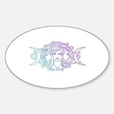 Triple Goddess Bumper Stickers
