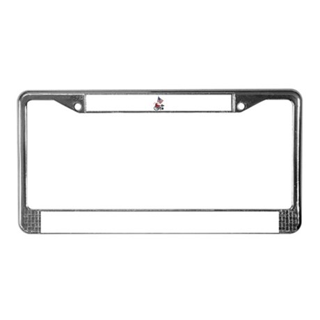 American Flag and Wheelchair License Plate Frame