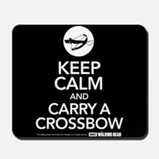 Keep Calm Carry a Crossbow Mousepad