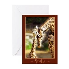 Giraffe Mom Baby Greeting Cards (Pk of 10)