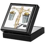 Balancing Buckets of Gold Keepsake Box