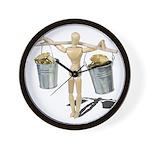 Balancing Buckets of Gold Wall Clock