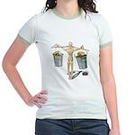 Balancing Buckets of Gold Jr. Ringer T-Shirt