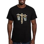 Balancing Buckets of Gold Men's Fitted T-Shirt (da