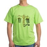 Balancing Buckets of Gold Green T-Shirt