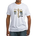 Balancing Buckets of Gold Fitted T-Shirt