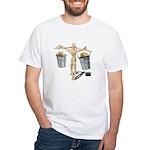 Balancing Buckets of Gold White T-Shirt