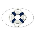 Blank Life Preserver Sticker (Oval 50 pk)