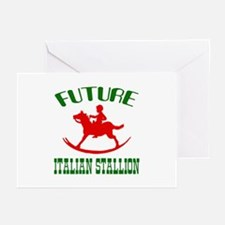 Future Italian Stallion Greeting Cards (Package of