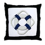 Blank Life Preserver Throw Pillow