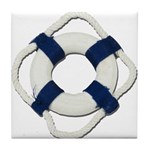 Blank Life Preserver Tile Coaster