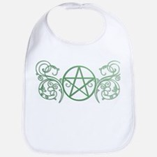 Pretty green pentacle Bib