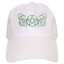 Pretty green pentacle Baseball Cap