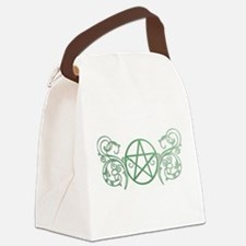 Pretty green pentacle Canvas Lunch Bag