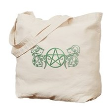Pretty green pentacle Tote Bag