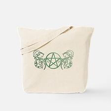Pretty green pentacle Tote Bag