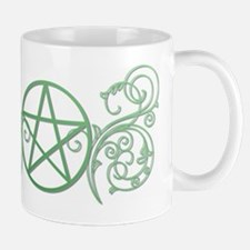 Pretty green pentacle Mug