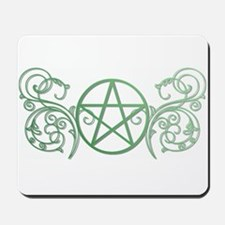 Pretty green pentacle Mousepad