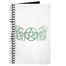Pretty green pentacle Journal