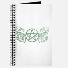 Pretty green pentacle Journal