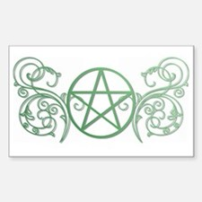 Pretty green pentacle Bumper Stickers