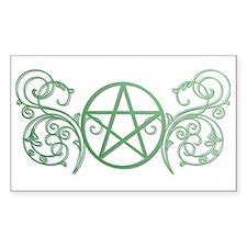 Pretty green pentacle Decal