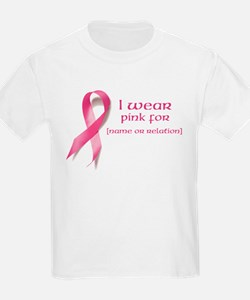 I wear pink for customized T-Shirt