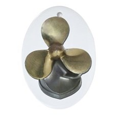 Ship Propeller Ornament (Oval)