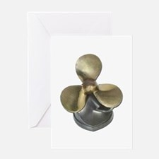 Ship Propeller Greeting Card