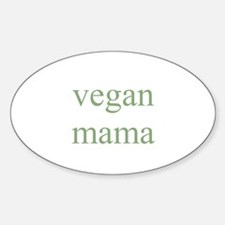 vegan mama Oval Decal