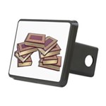 Stacked Books Gold leaf Rectangular Hitch Cover