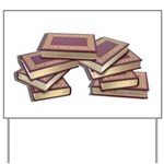 Stacked Books Gold leaf Yard Sign