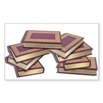 Stacked Books Gold leaf Sticker (Rectangle)