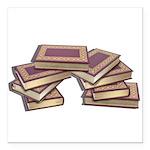 Stacked Books Gold leaf Square Car Magnet 3