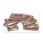 Stacked Books Gold leaf Rectangle Car Magnet