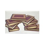 Stacked Books Gold leaf Rectangle Magnet (10 pack)