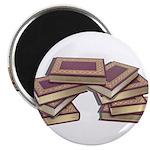 Stacked Books Gold leaf Magnet