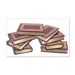 Stacked Books Gold leaf 20x12 Wall Decal