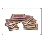 Stacked Books Gold leaf Banner