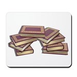 Stacked Books Gold leaf Mousepad