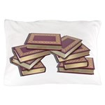 Stacked Books Gold leaf Pillow Case
