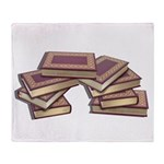 Stacked Books Gold leaf Throw Blanket