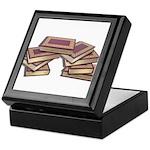 Stacked Books Gold leaf Keepsake Box