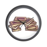 Stacked Books Gold leaf Wall Clock