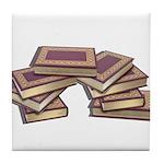 Stacked Books Gold leaf Tile Coaster