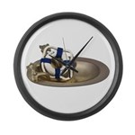 Life Preserver Brass Sink Large Wall Clock