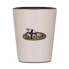 Life Preserver Brass Sink Shot Glass