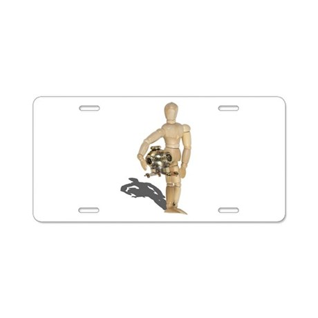 Holding Diving Helm Aluminum License Plate