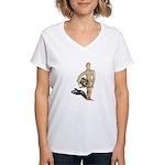 Holding Diving Helm Women's V-Neck T-Shirt